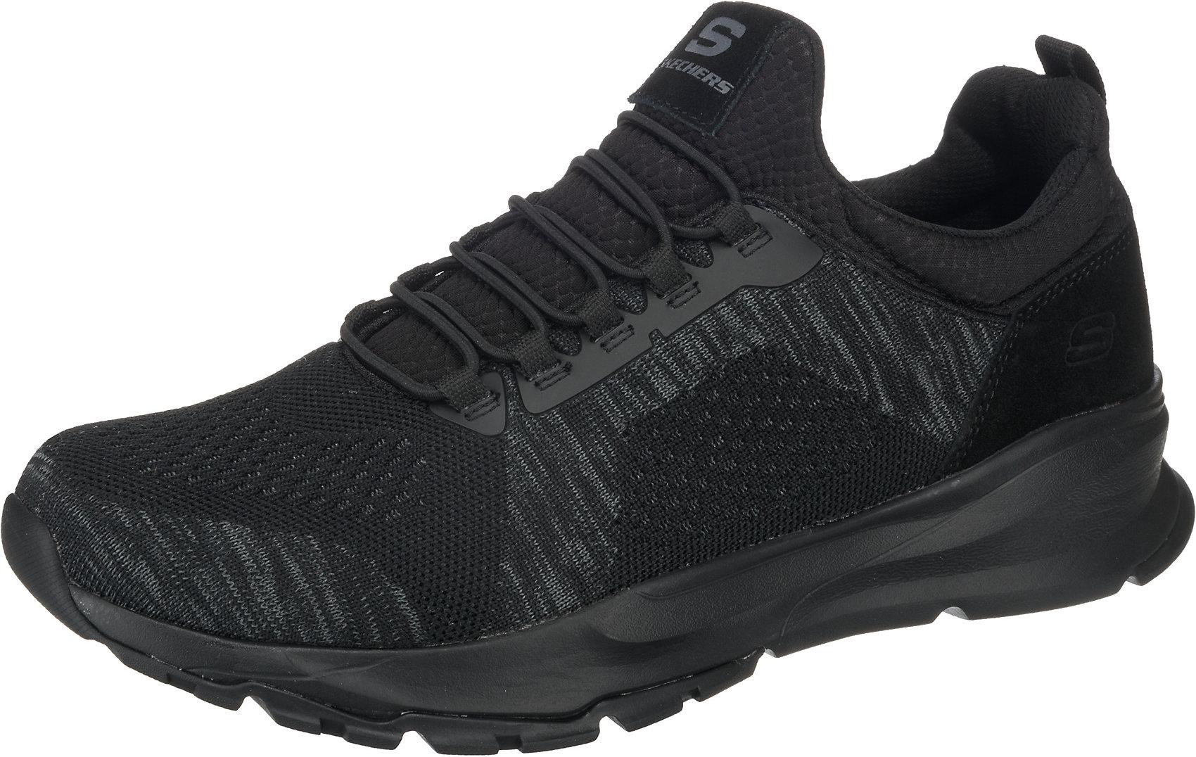 Details zu Neu SKECHERS RELVEN RENTON Sneakers Low 7385092 für Herren schwarzgrau