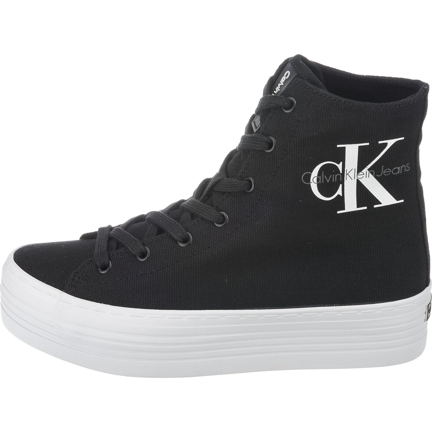 Neu CALVIN KLEIN JEANS ZABRINA CANVAS Sneakers High 7389351 für Damen