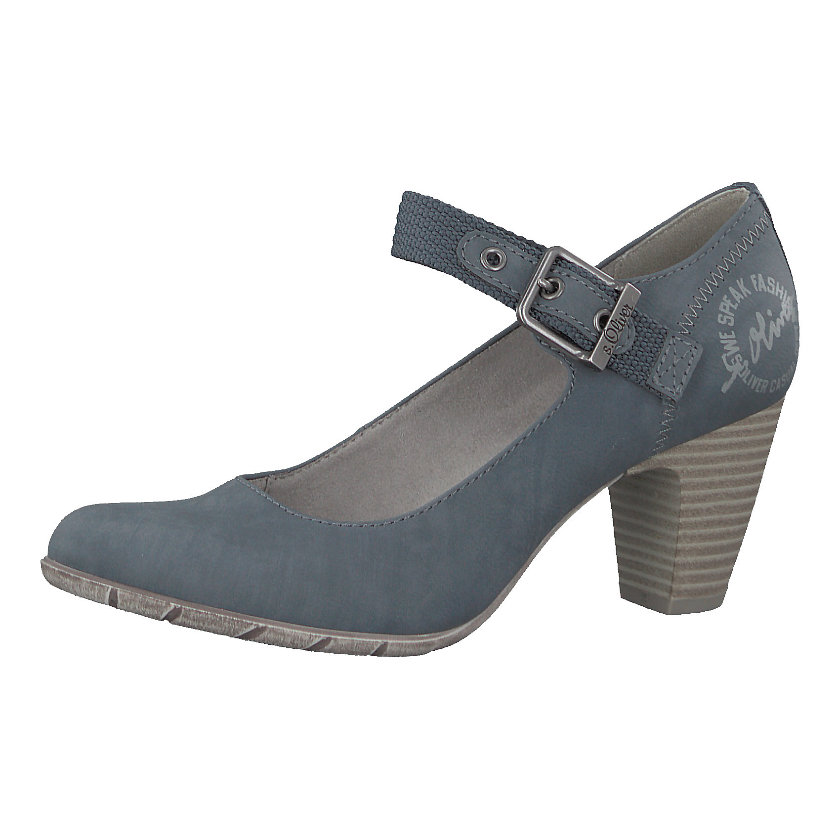 95f99413567e Neu s.Oliver Spangenpumps 7403765 für Damen schwarz blue denim   eBay