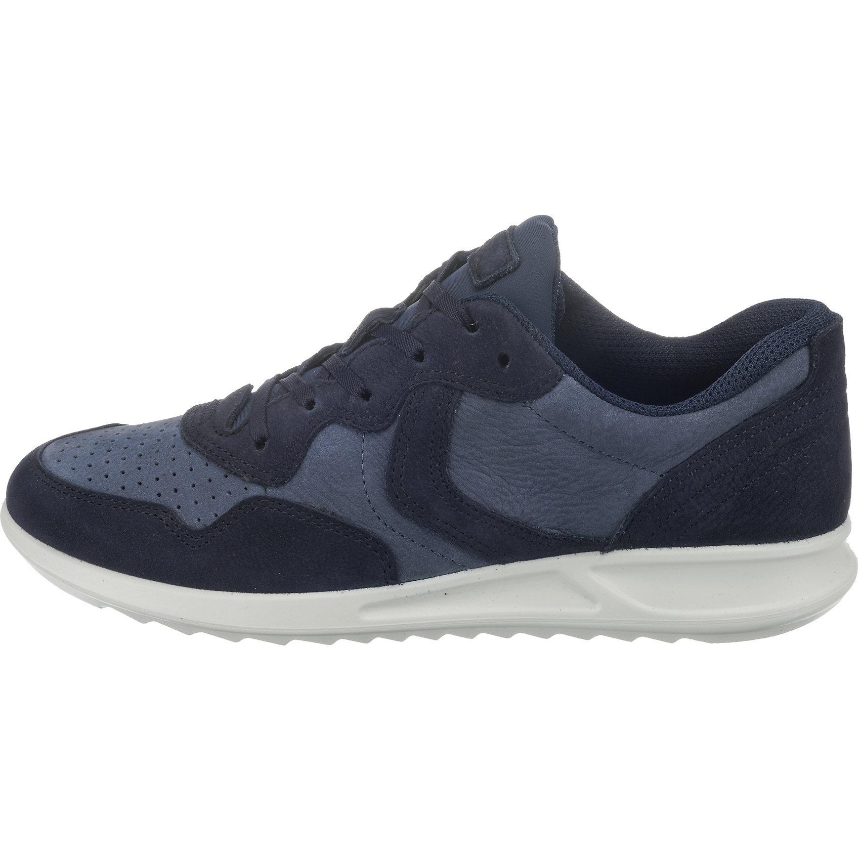 Ecco ecco Soft 5 Black Feather Sneakers Low, blau, blau