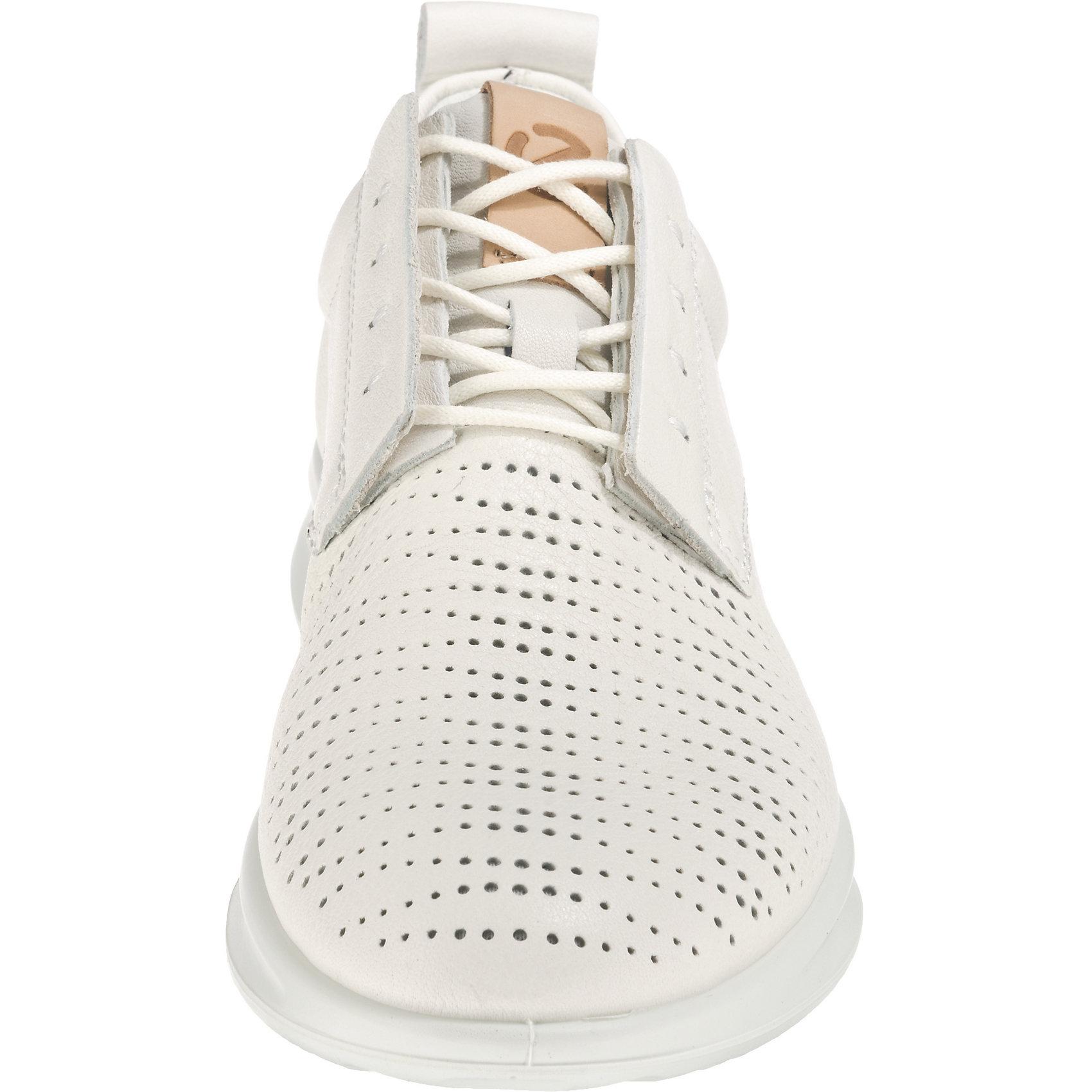 Neu ecco Bquet Ladies White Trento Sneakers Low 7406811 für Damen weiß