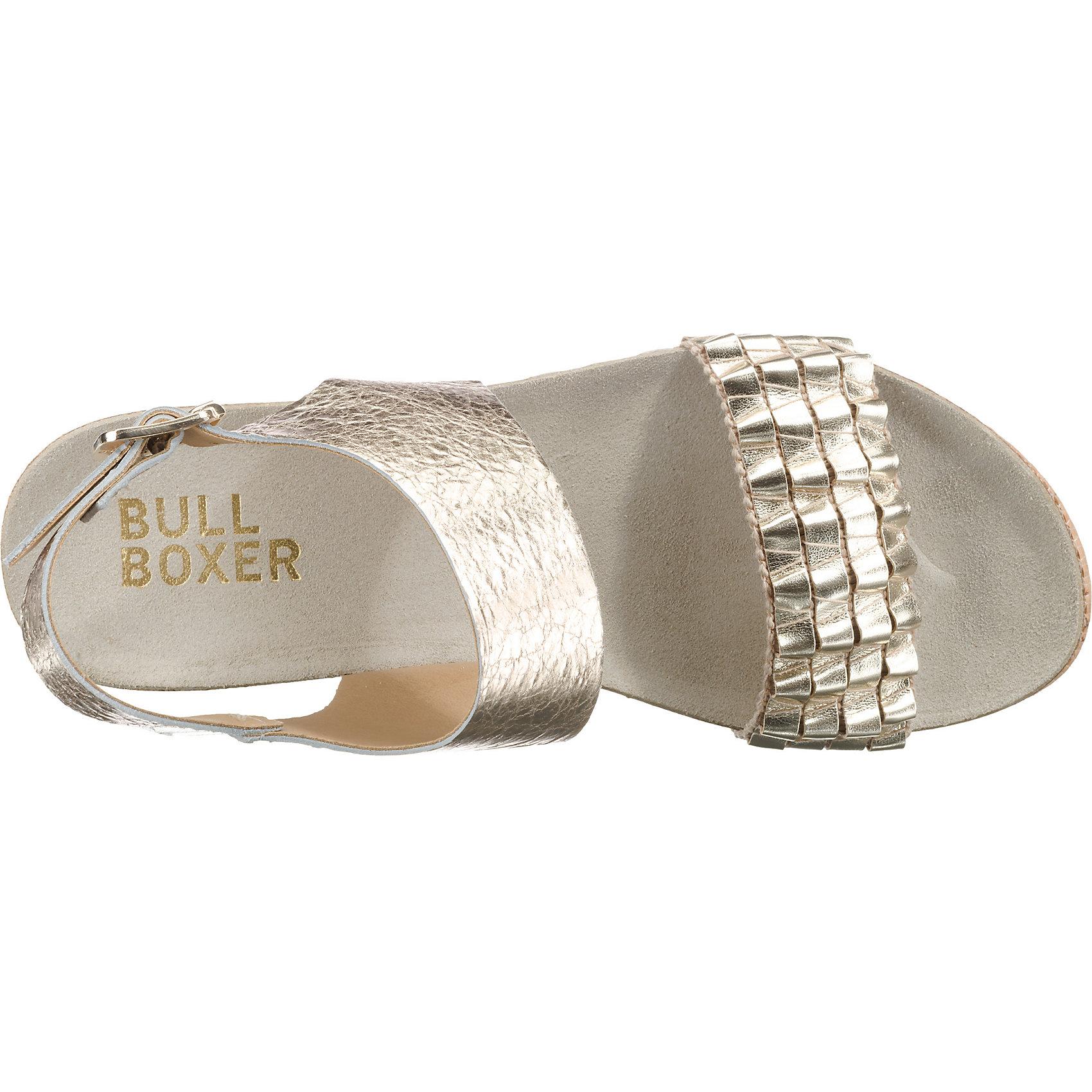 Neu BULLBOXER RiemchenSandaleeen 7409369 für Damen silber gold