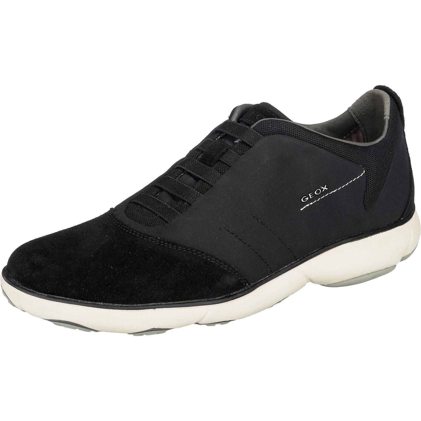 neu geox nebula sneakers low 7452938 f r herren schwarz ebay. Black Bedroom Furniture Sets. Home Design Ideas