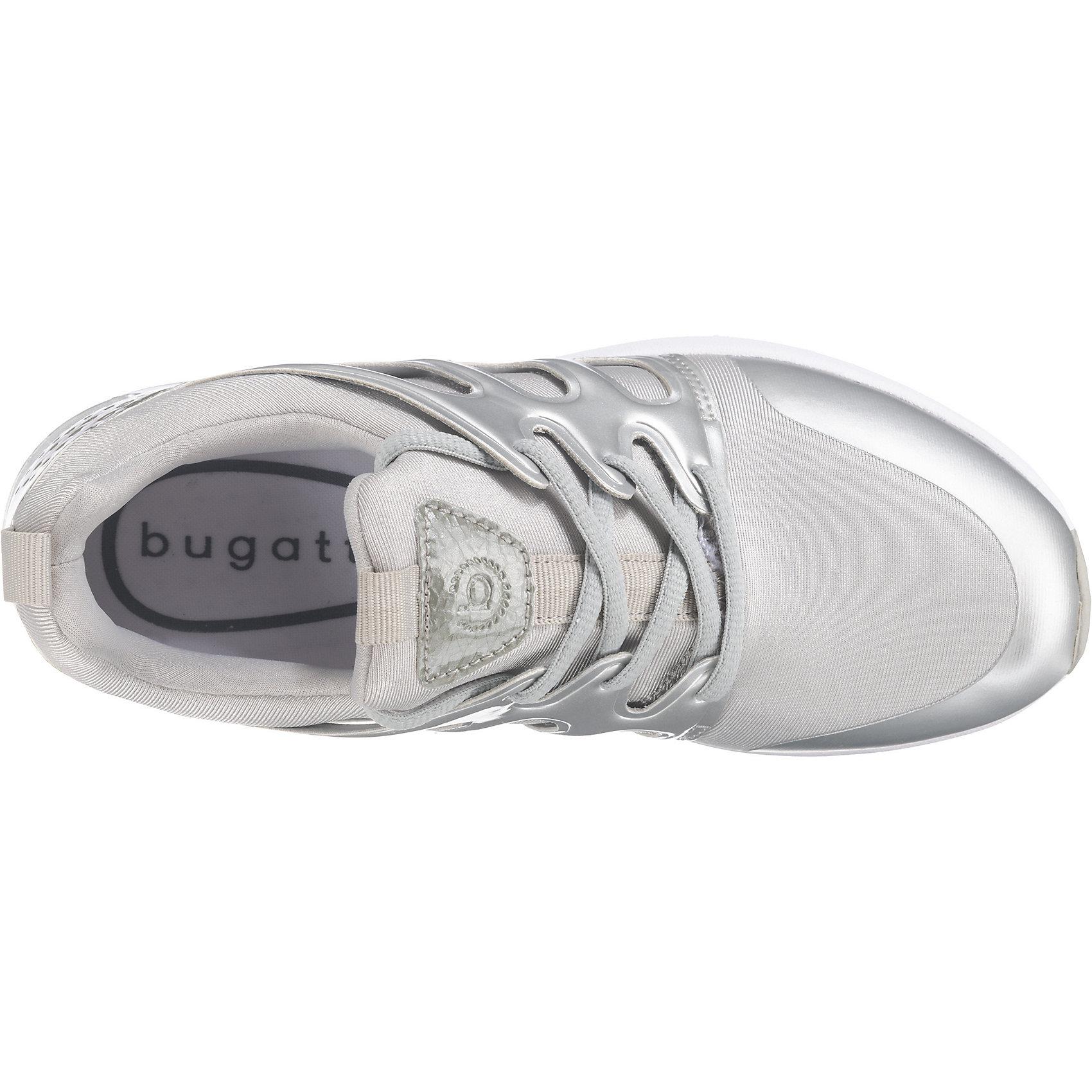 Neu Niedrig bugatti Sneakers Niedrig Neu 7572172 für Damen silber schwarz 2e536d