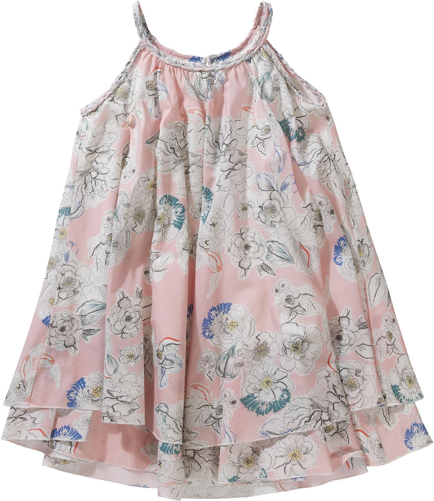 Details zu Neu MARC O'POLO Kinder Kleid mit Blumen 7559633 für Mädchen rosa