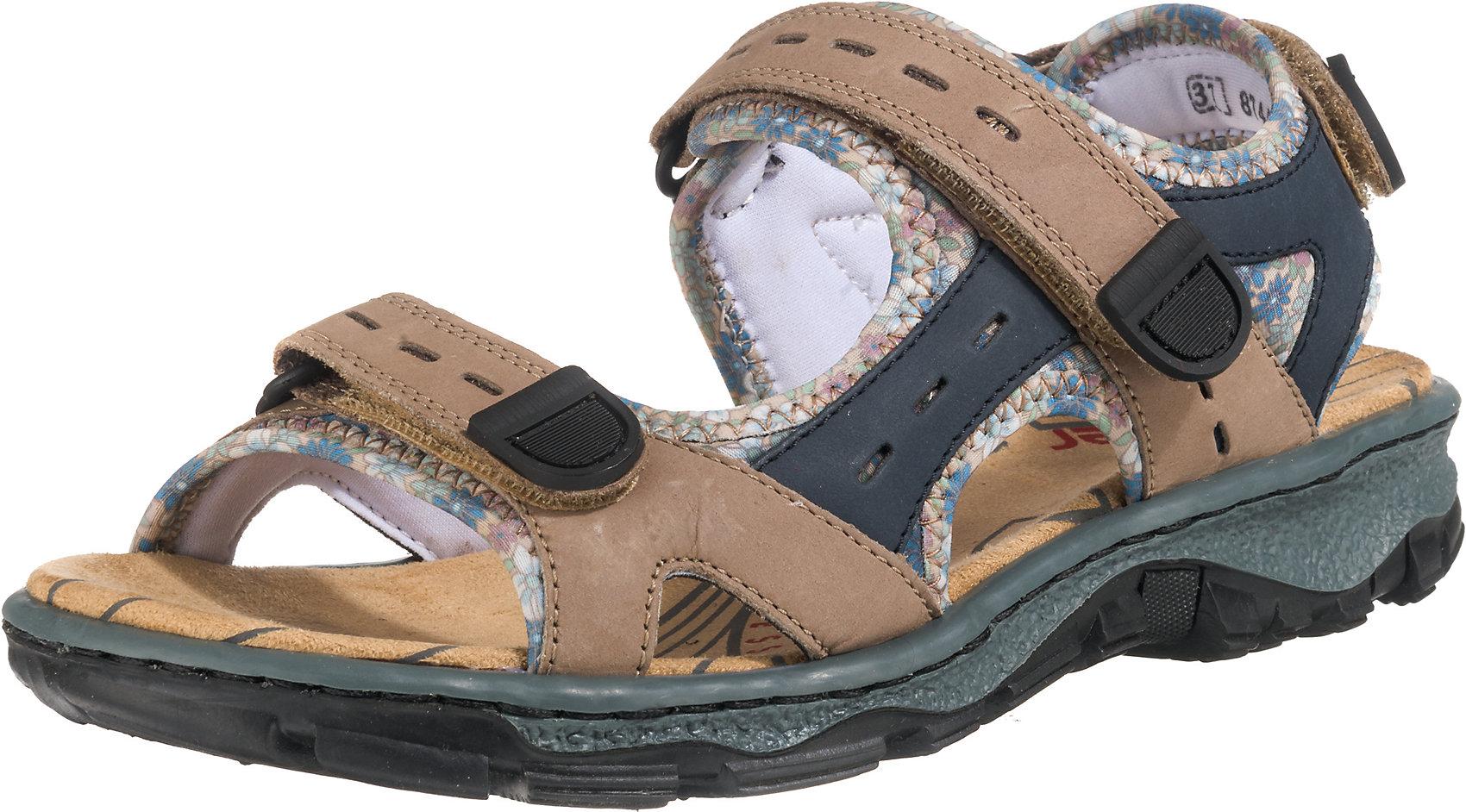 Neu rieker Klassische Sandalen 7567766 für Damen braun kombi