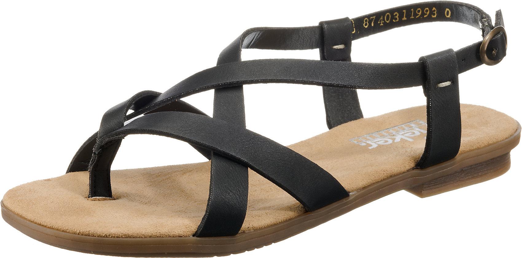 Details zu Neu rieker Klassische Sandalen 7568134 für Damen schwarz bronze