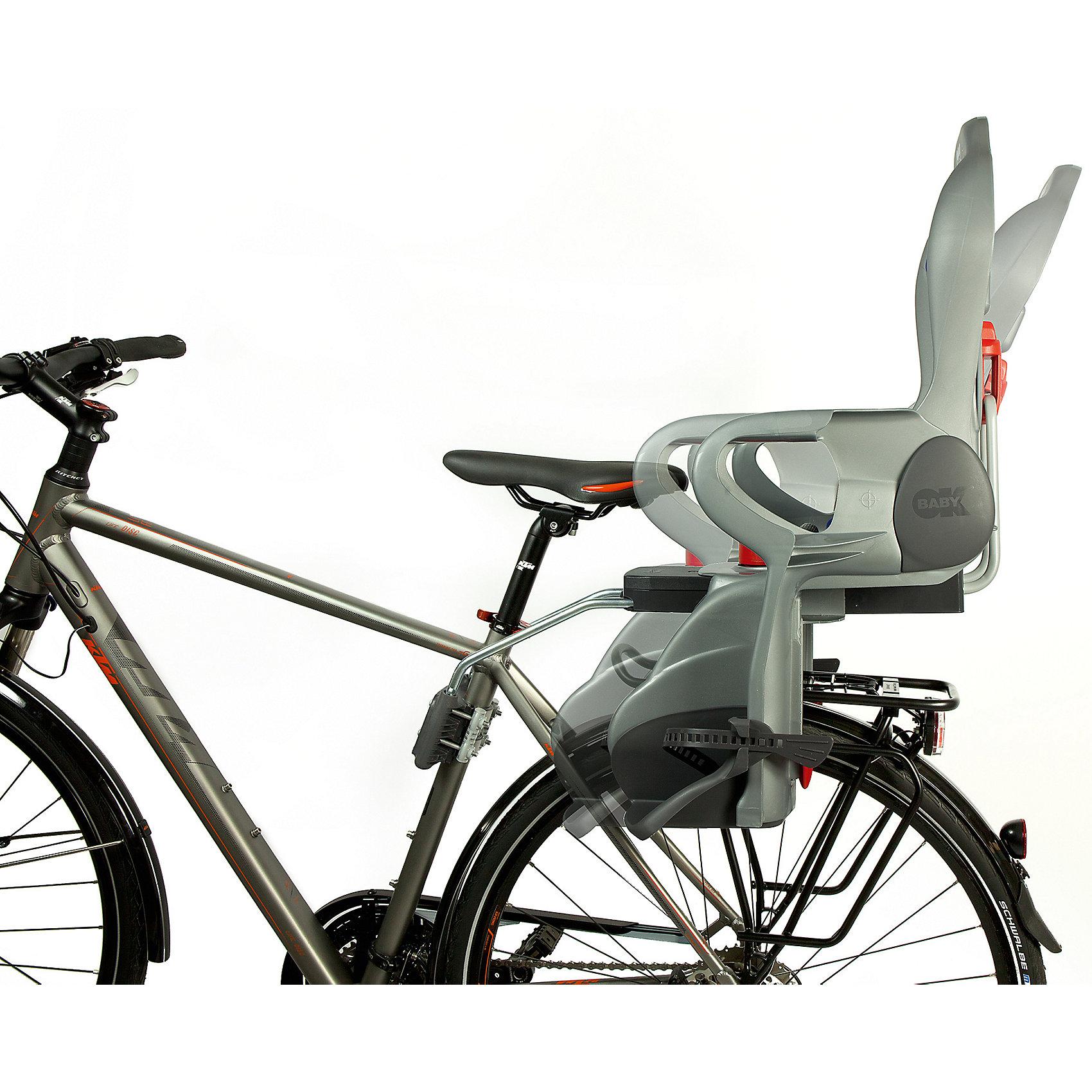 OK Baby Fahrrad-Sicherheitssitz silbergrau/blau Sirius inkl. Befestigungssystem, silbergrau/blau Fahrrad-Sicherheitssitz d1a14c