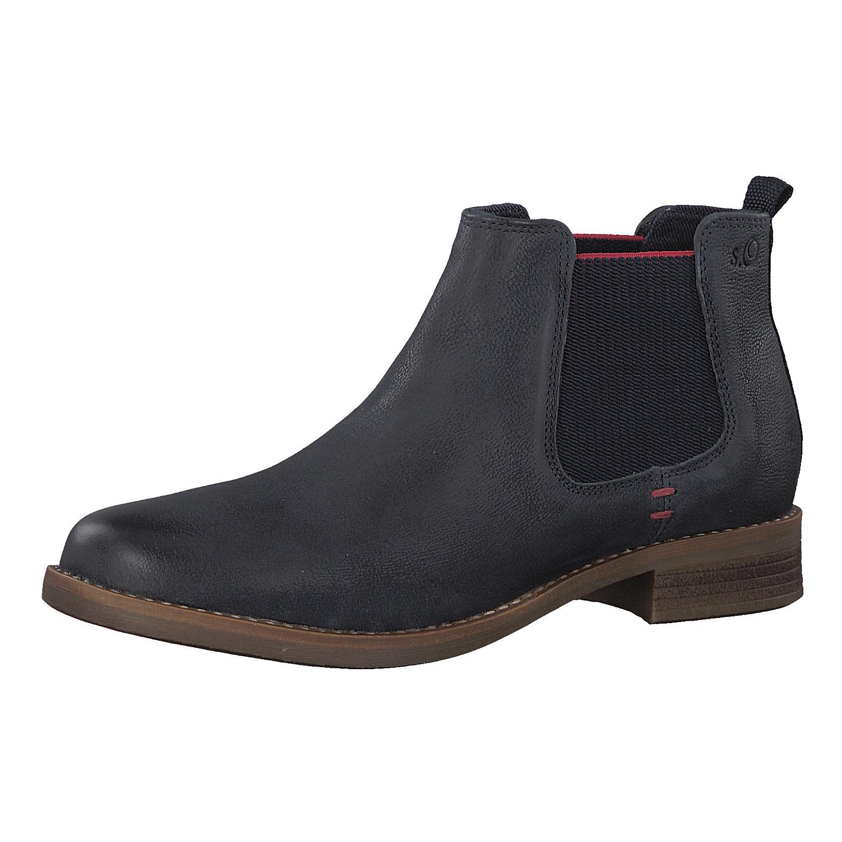 neu s oliver chelsea boots 8417114 f r damen schwarz ebay. Black Bedroom Furniture Sets. Home Design Ideas