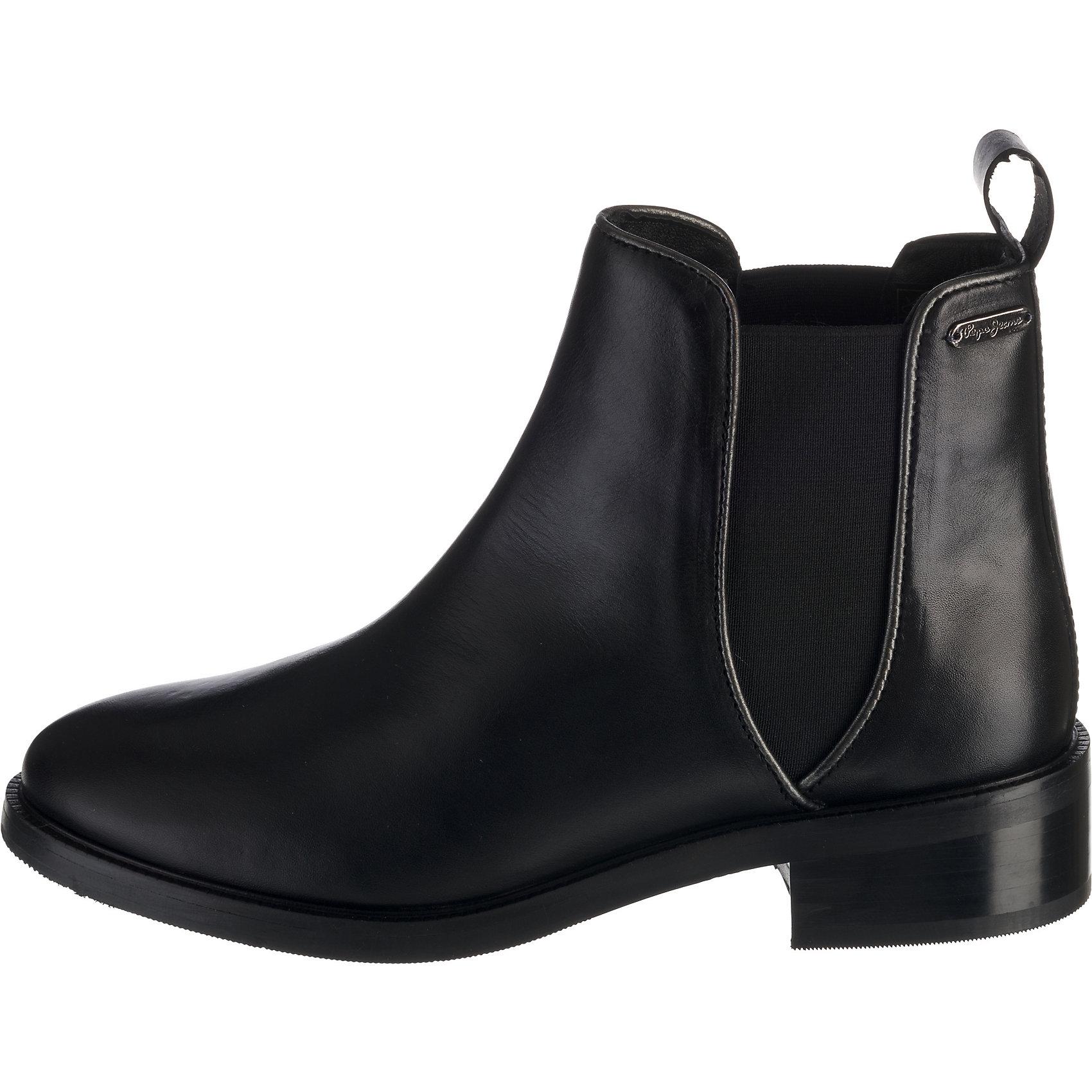 Neu Pepe Jeans DEVON BBSIC Chelsea Boots 8430865 für Damen schwarz