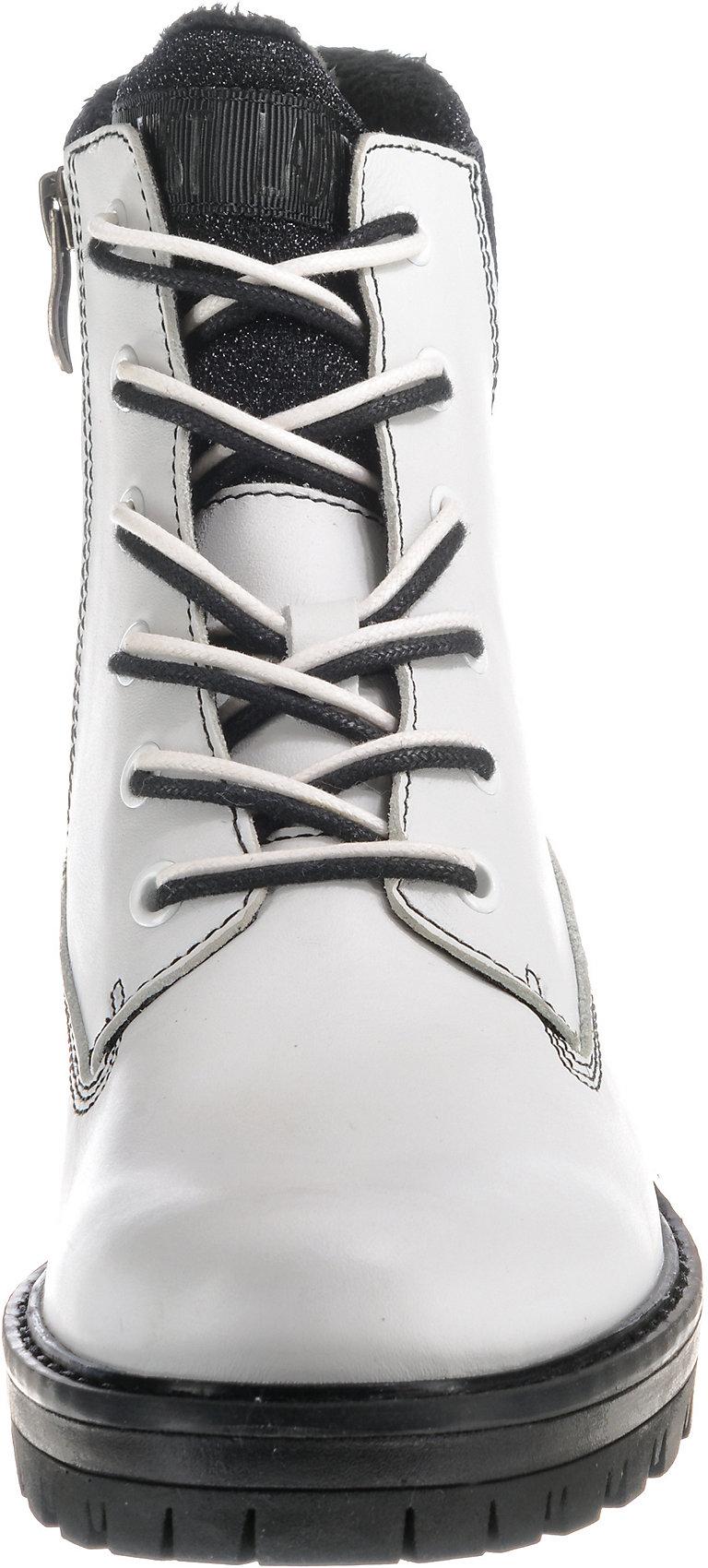 Details zu Neu Tamaris Biker Boots 8454204 für Damen schwarz weiß
