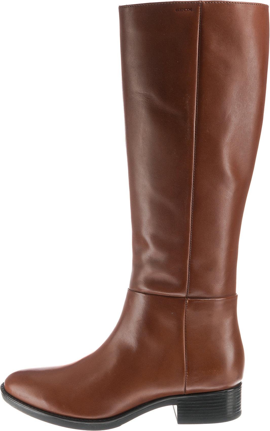 Details zu Neu GEOX D FELICITY Klassische Stiefel 8549866 für Damen cognac schwarz