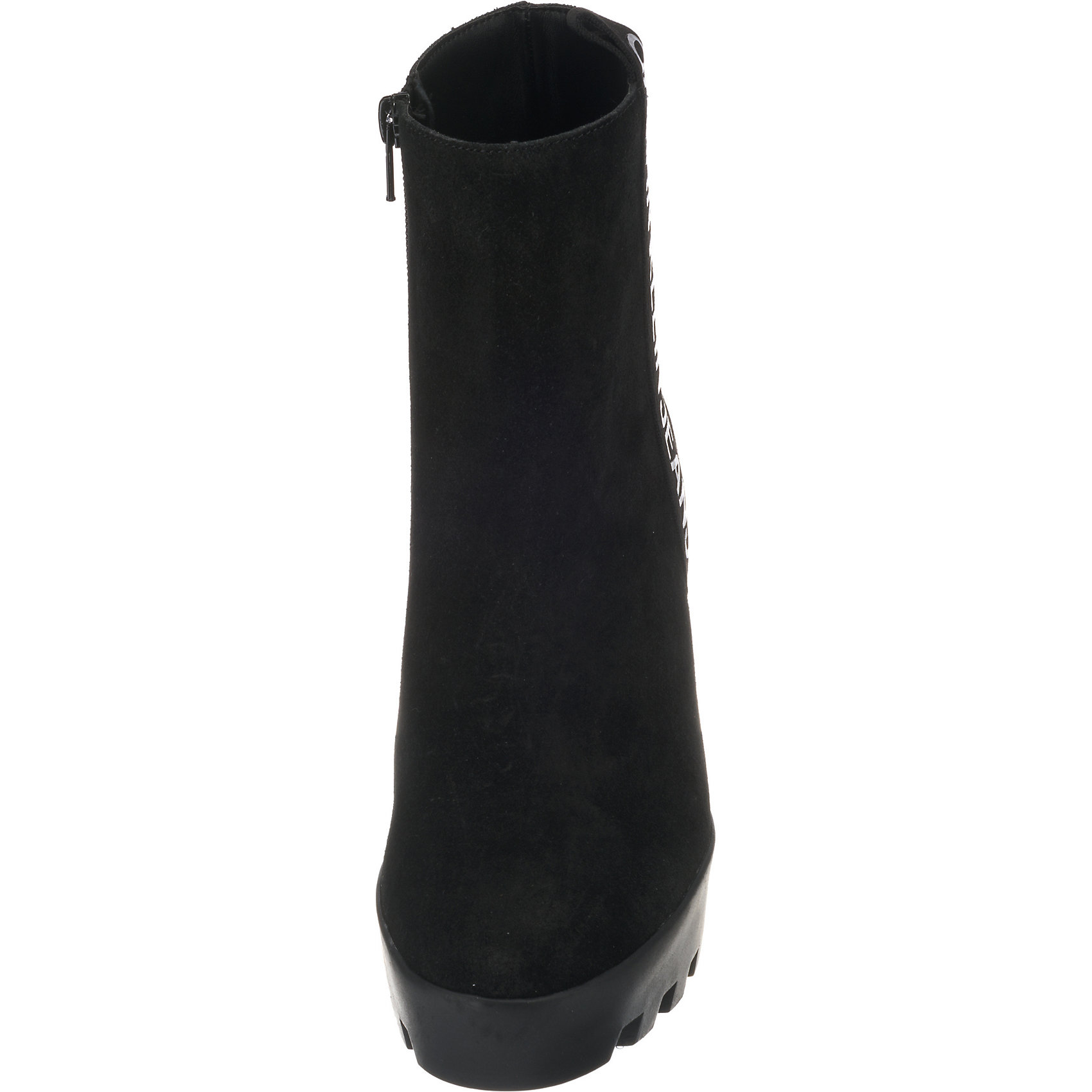 Details zu Neu Calvin Klein Serina Plateau Stiefeletten 8582239 für Damen schwarz
