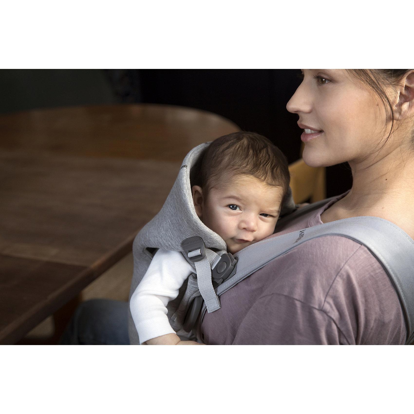 Neu-BabyBjoern-Babytrage-Mini-Dunkelgrau-3D-Jersey-8584419