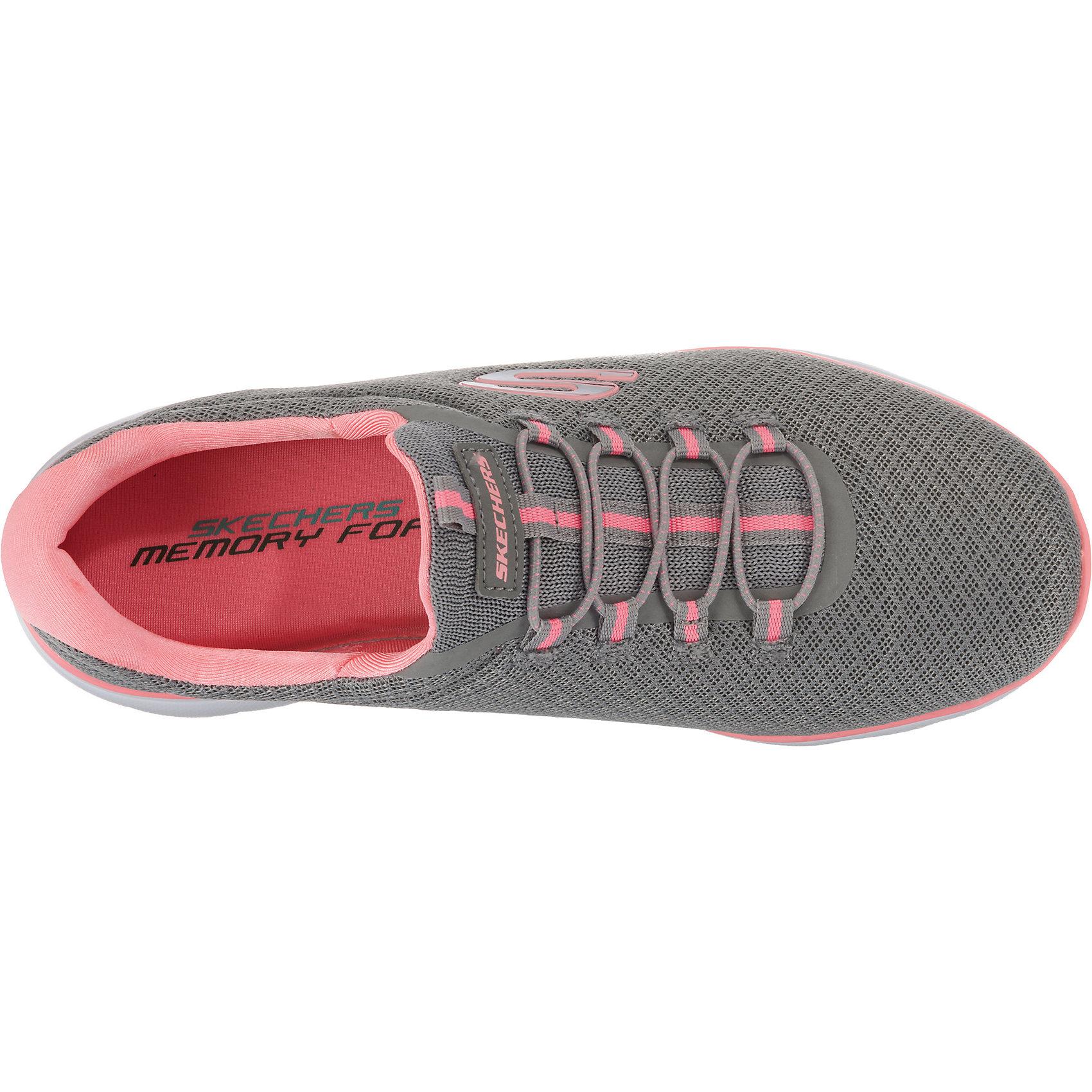 Neu SKECHERS SUMMITS Sneakers Low 8666101 für Damen grau weiß