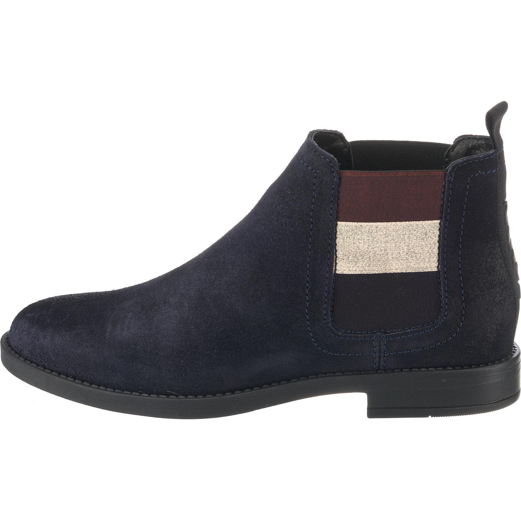 Neu TOMMY JEANS JEANS JEANS Chelsea Stiefel 8741912 für Damen dunkelblau grau 5fe994