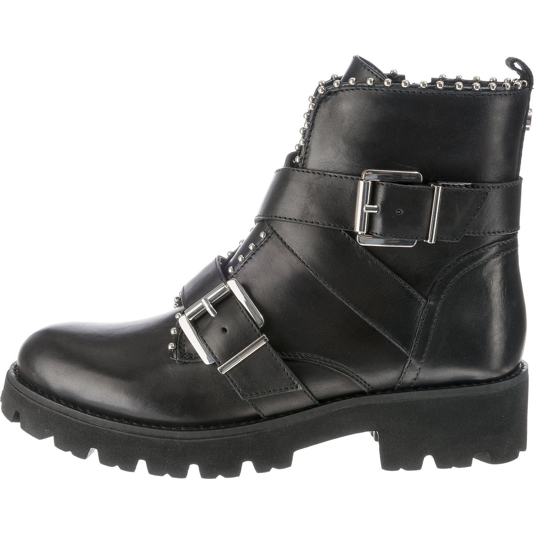 b99275340ea Neu STEVE MADDEN Hoofy Biker Boots 8763673 für Damen schwarz
