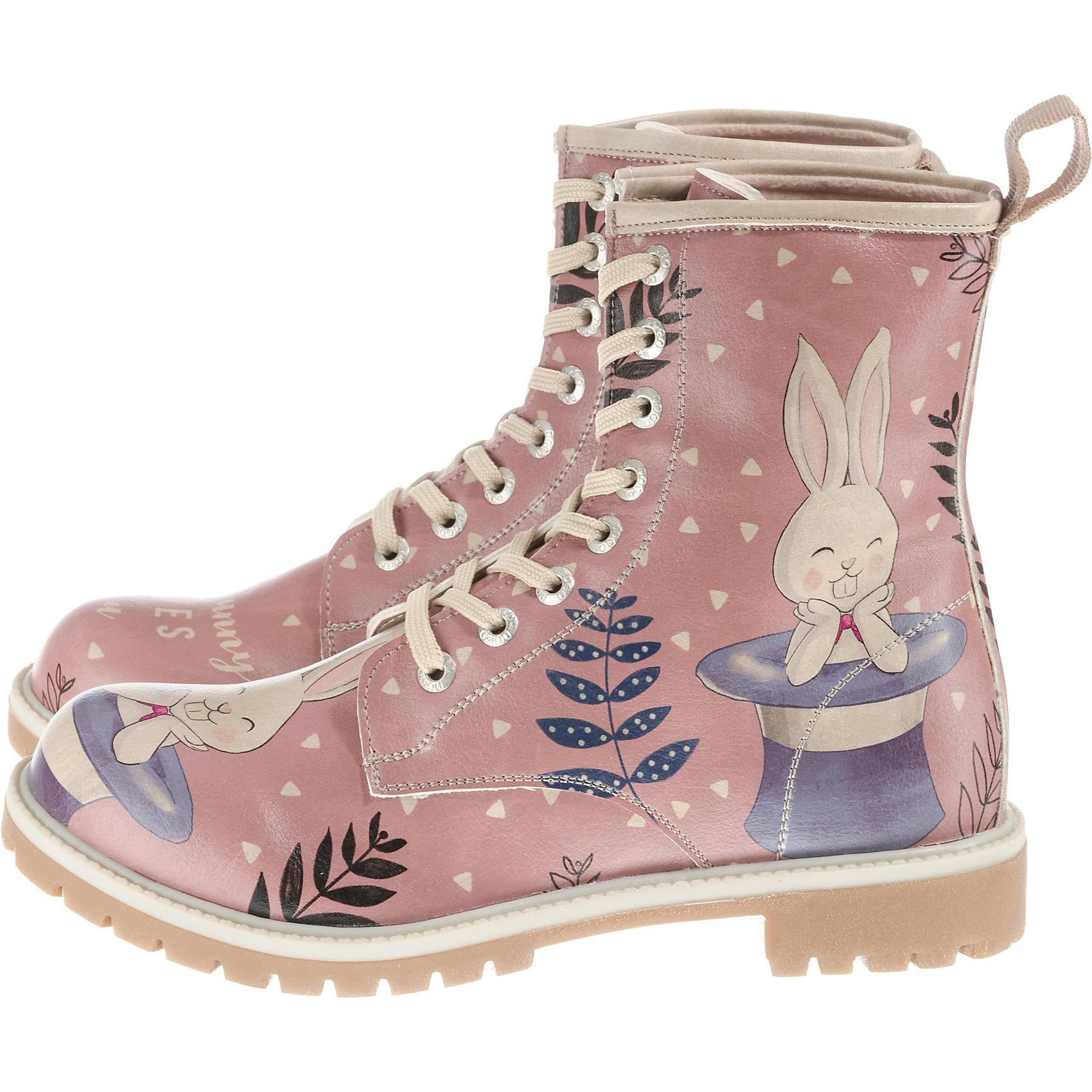 Dogo Shoes, Somebunny Loves You Schnürstiefel, rosa