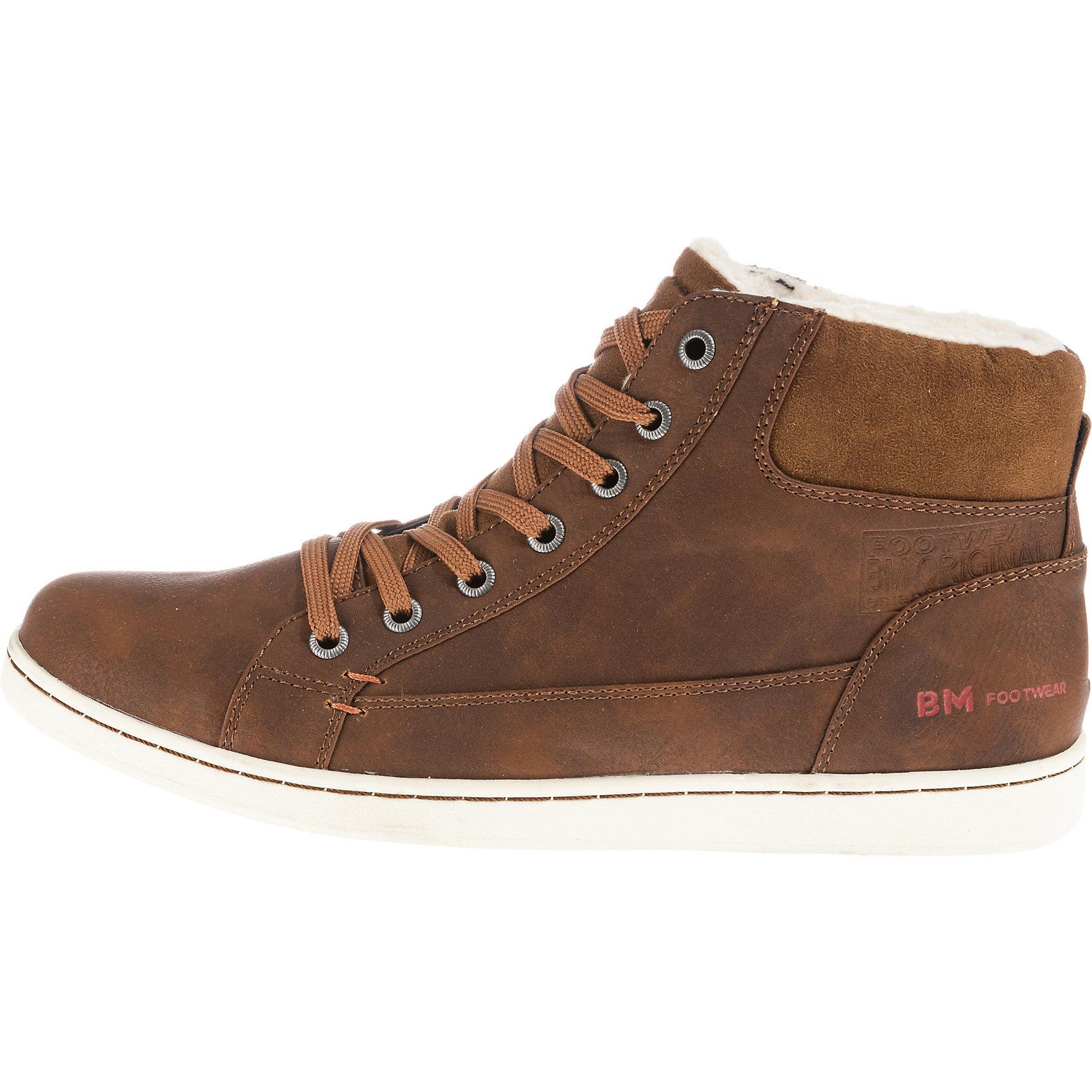 Neu BM Footwear Footwear BM Sneakers High 8806810 für Herren schwarz braun 06ad7a