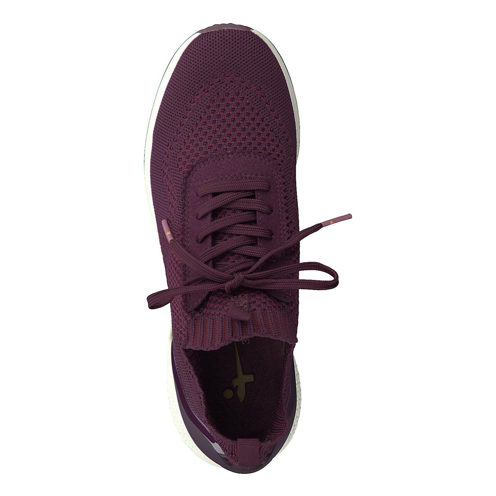 Neu Tamaris Sneakers Low 8819574 für Damen bordeaux