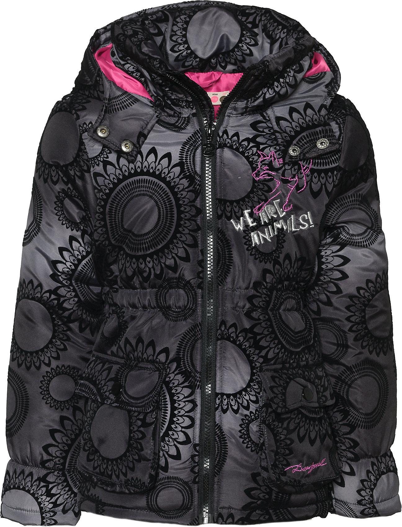 Details zu Neu Desigual Winterjacke für Mädchen 8823332 für Mädchen schwarz