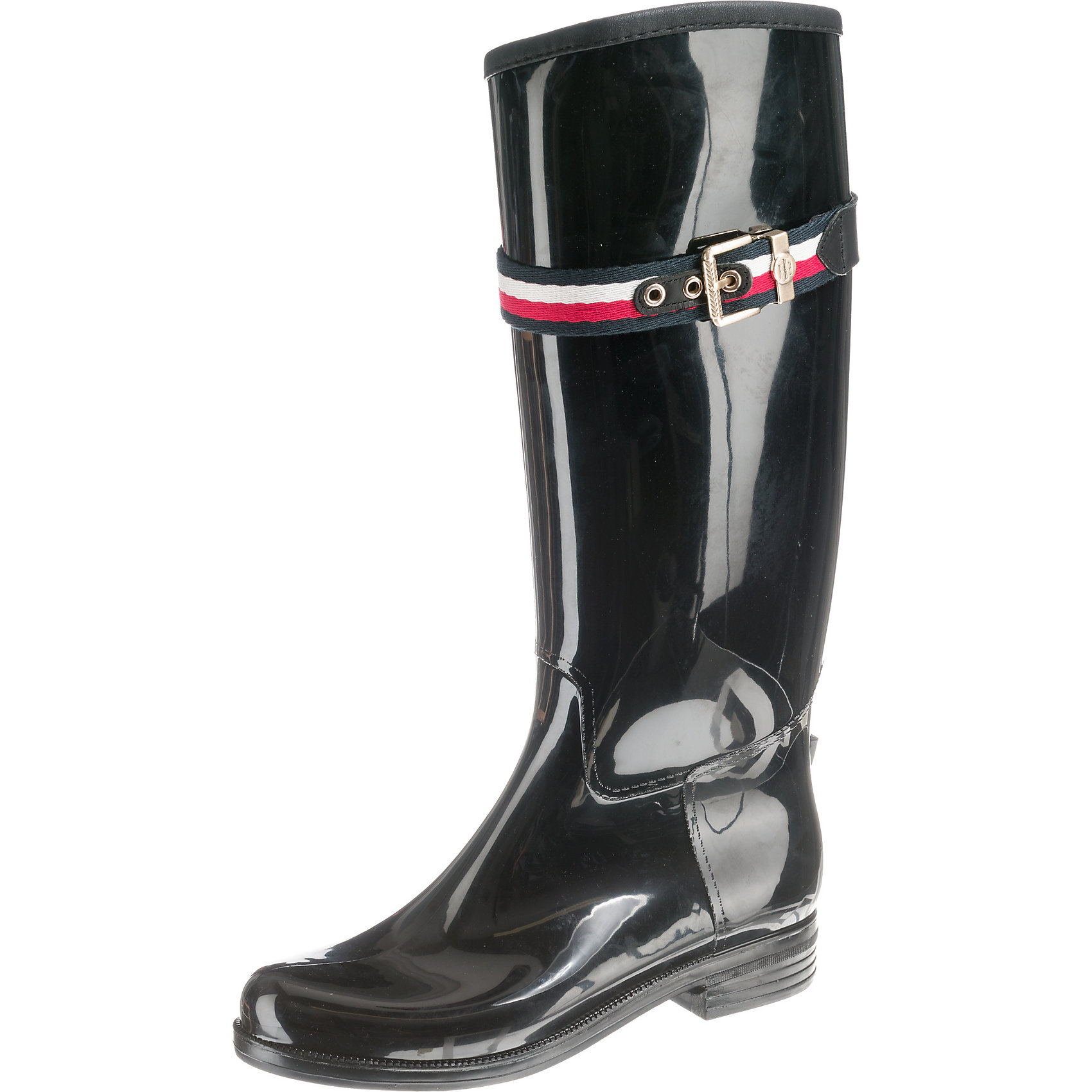 Neu TOMMY HILFIGER CORPORATE BELT LONG RAIN RAIN RAIN BOOT Klassische Stiefel 8861961 561625