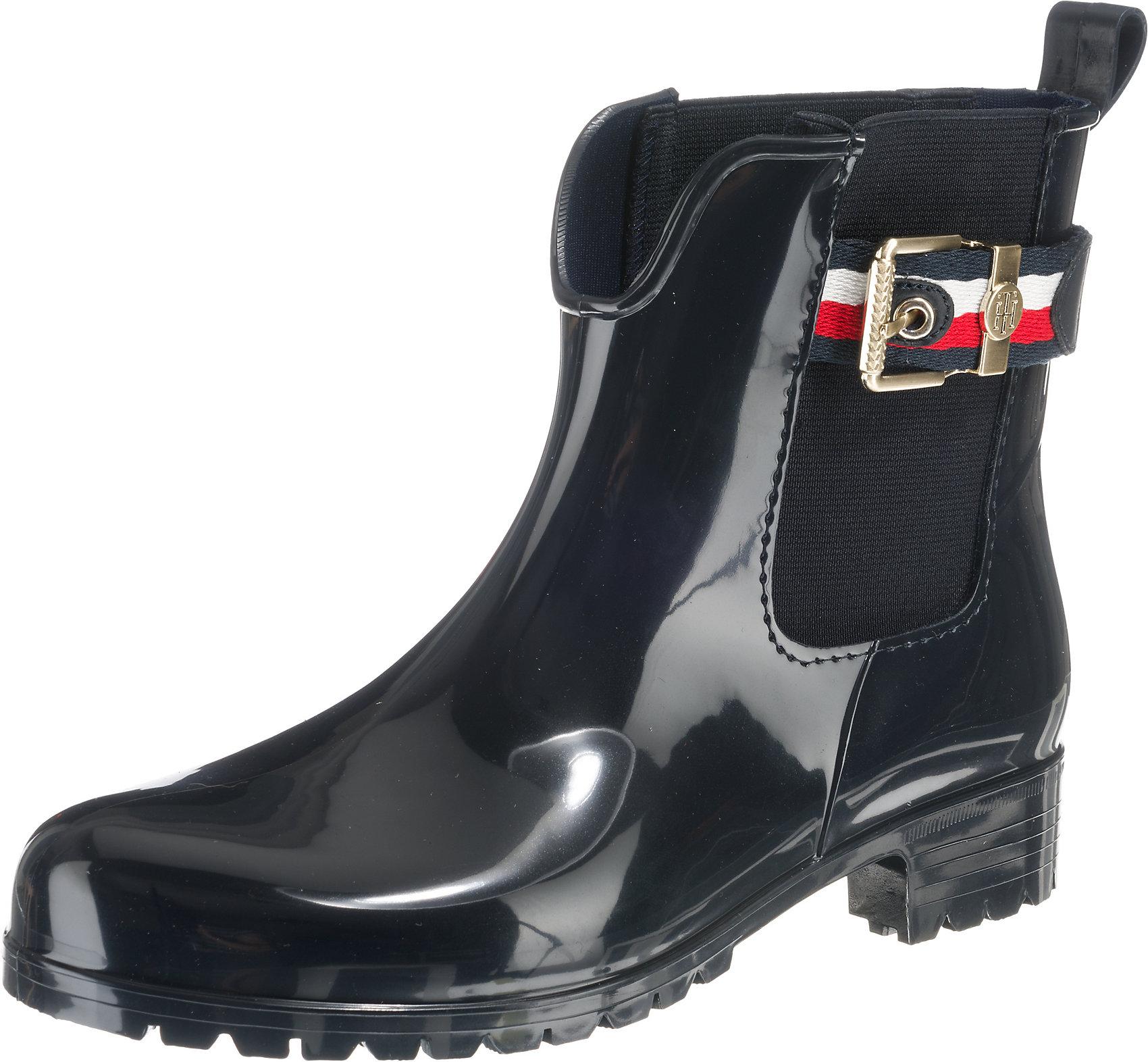 Details zu Neu TOMMY HILFIGER CORPORATE BELT RAIN BOOT Klassische Stiefeletten 8861988