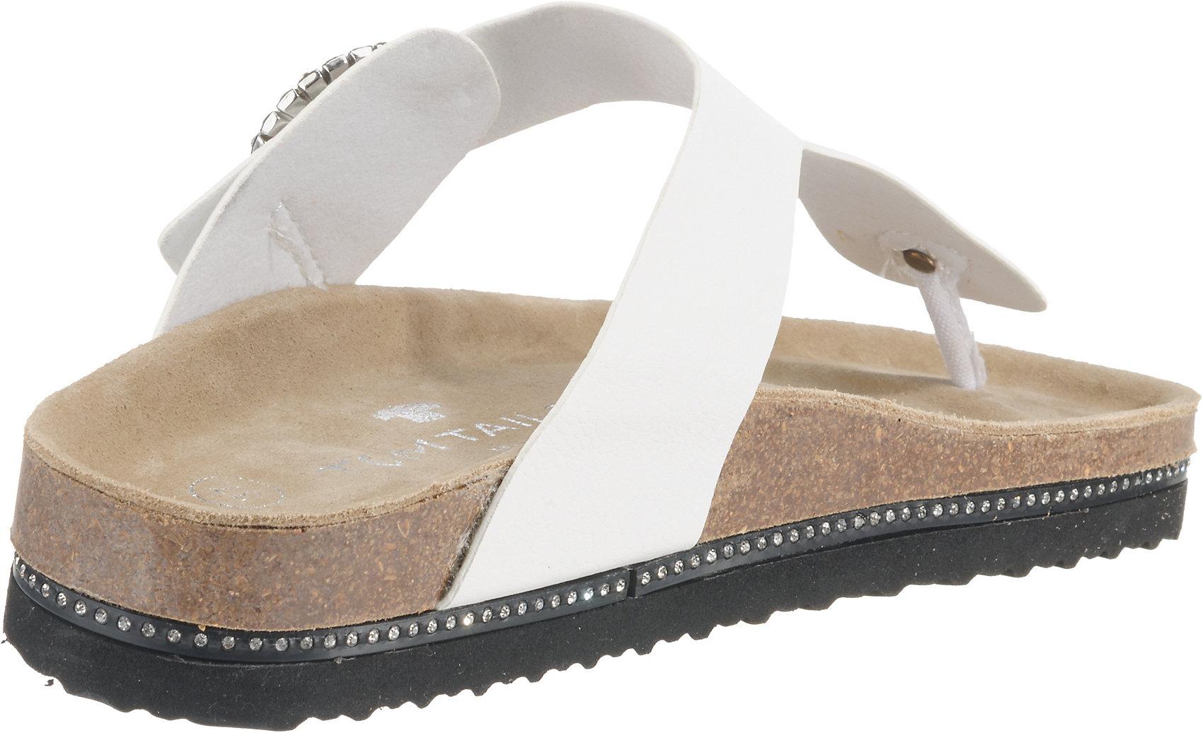 on sale e1486 25779 Details zu Neu TOM TAILOR Zehentrenner 9555140 für Damen weiß schwarz