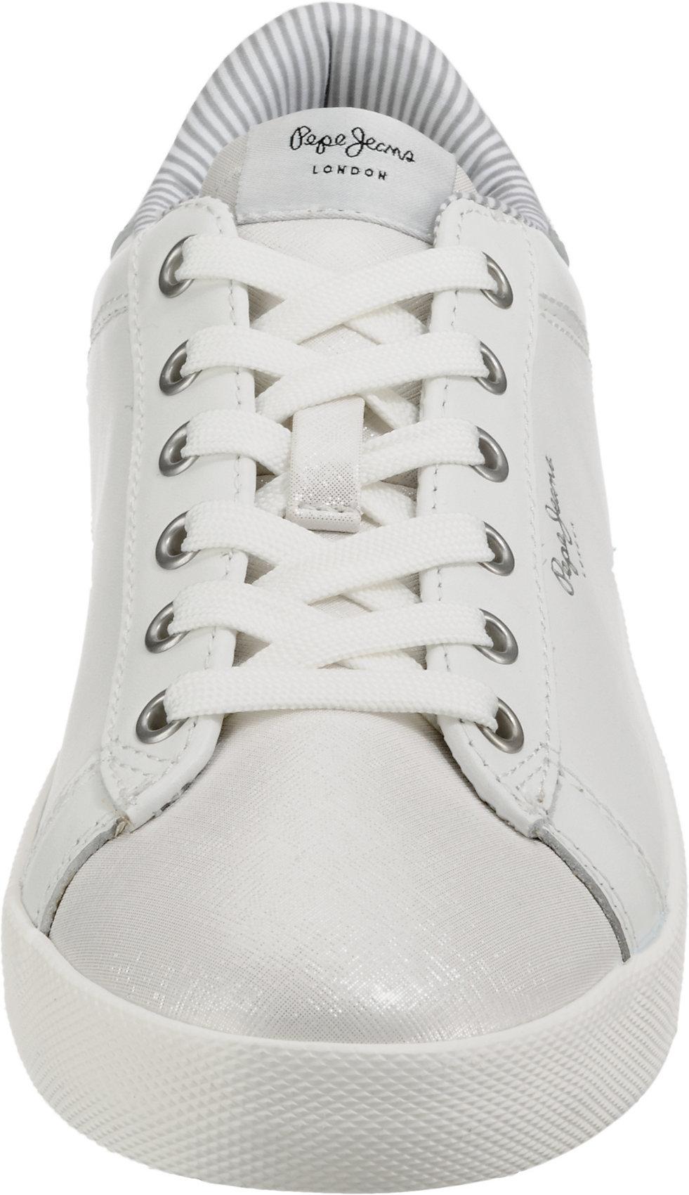 9566603 Pepe Weiß bronze Neu Low Jeans kombi Sneakers Weiß Damen Für PuOkXiTZ