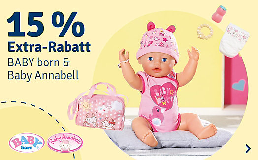 15% Baby Born & Baby Annabell