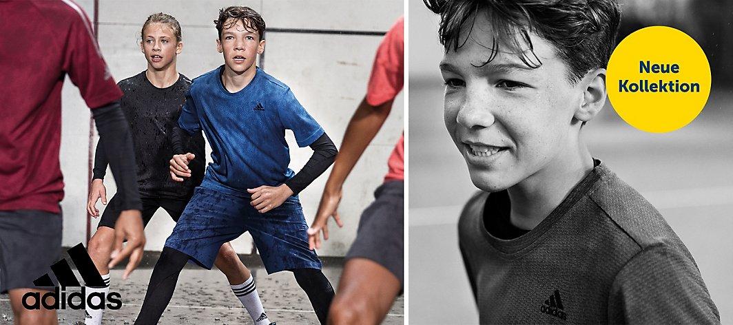 Adidas T Shirts Set Jungen schwarzgrün graublau Angebot Kinder Sport NEU!