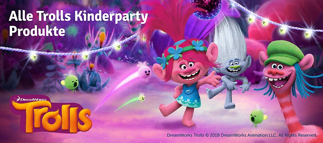 Alle Trolls Kinderparty Produkte