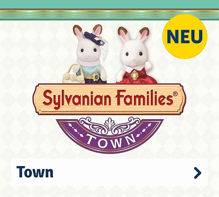 4088e1fbe66e2e Figuren · Läden · Fahrzeuge · Sylvanian Families Town